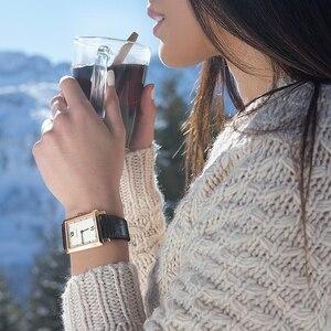 Image 2 - Agelocer 최고 브랜드 럭셔리 드레스 시계 빛나는 석영 시계 가죽 스트랩 시계 스틸 시계 3403a1