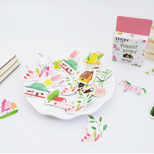 45pcs/box Kawaii Small forest DIY stickers decoration diary posted album scrapbooking decorations sealing stationery