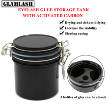 GLAMLASH Eyelash Glue Storage Tank Activated Sealed Jar Container Adhesive Stand Extension Makeup Tool
