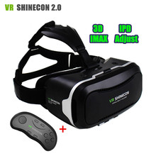 VRชุดหูฟังความจริงเสมือนแว่นตา3Dกล่องเดิมVR Shinecon ii 2.0รุ่นPro 3 Dหมวกกันน็อคกระดาษแข็ง+สมาร์ทBTไร้สายGamepad