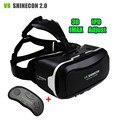 Vr vr fone de ouvido caixa de realidade virtual óculos 3d originais shinecon ii 2.0 Pro Versão 3 D Capacete de Papelão + BT Sem Fio Inteligente Gamepad