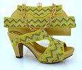 Talones de la boda Zapatos Italianos Con Los Bolsos Que Emparejan Piedras de Buena Calidad Set Moda Zapatos Africanos Y Bolso Para El Partido MM1010
