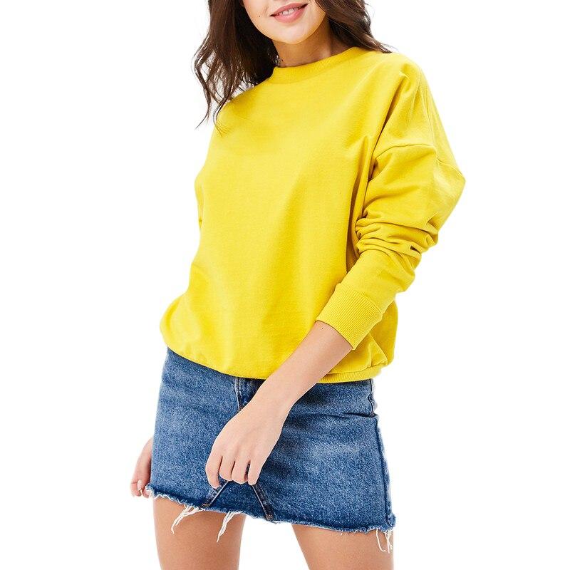 Hoodies & Sweatshirts MODIS M181W00548 woman hooded jumper sweater cotton for female TmallFS