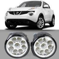 Car Styling For Nissan Juke 2011 2012 2013 2014 9 Pieces Leds Fog Lights H11 H8