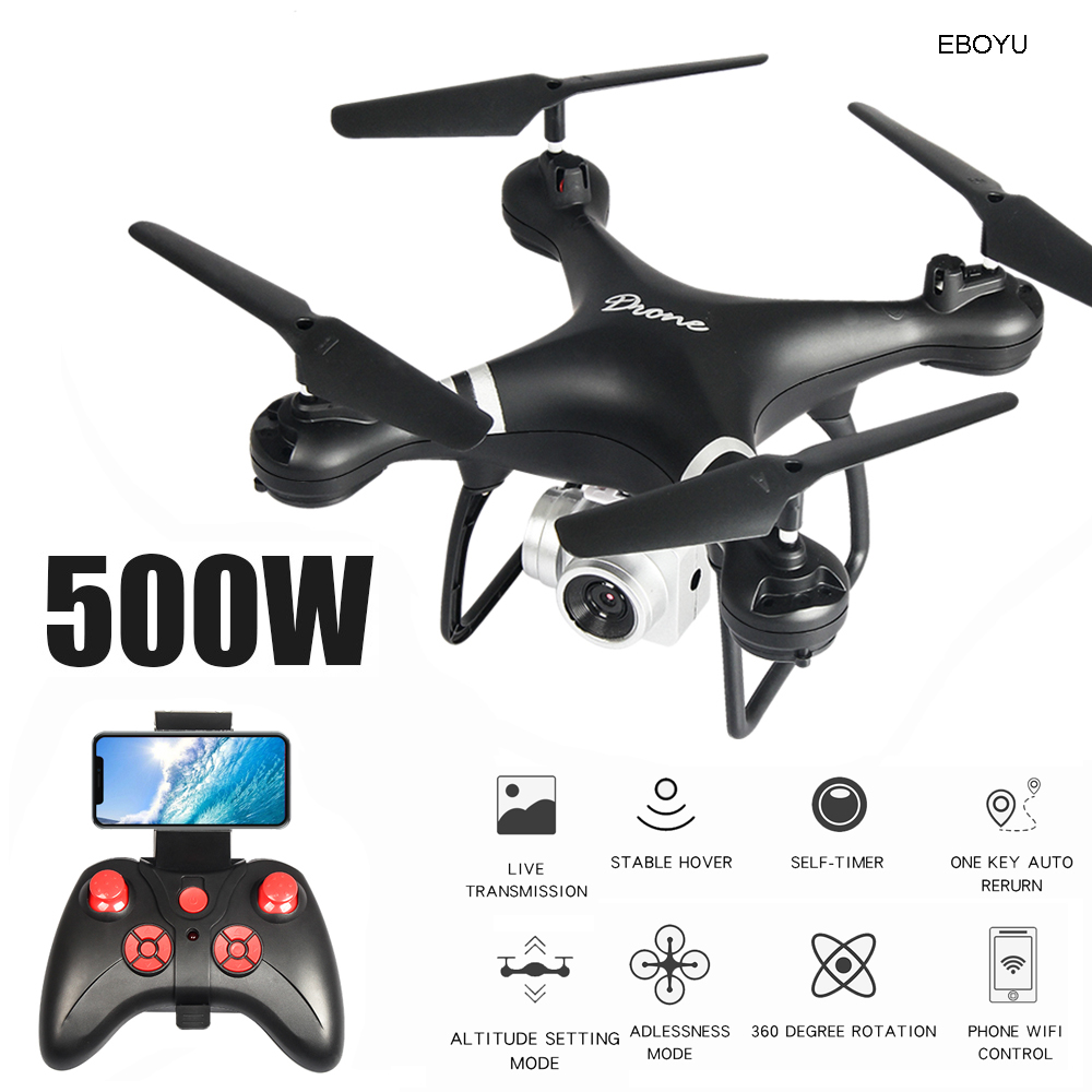 EBOYU LF608 2.4Ghz RC Drone 1080P Wifi FPV HD Camera Altitude Hold One Key Return/Landing/ Take Off Headless RC Quadcopter Drone image