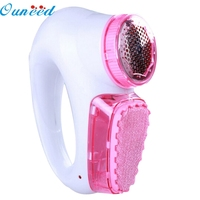 Happy Home High Quality Pink Portable Electric Sweater Clothes Lint Pill Fluff Remover Fabrics Fuzz Shaver