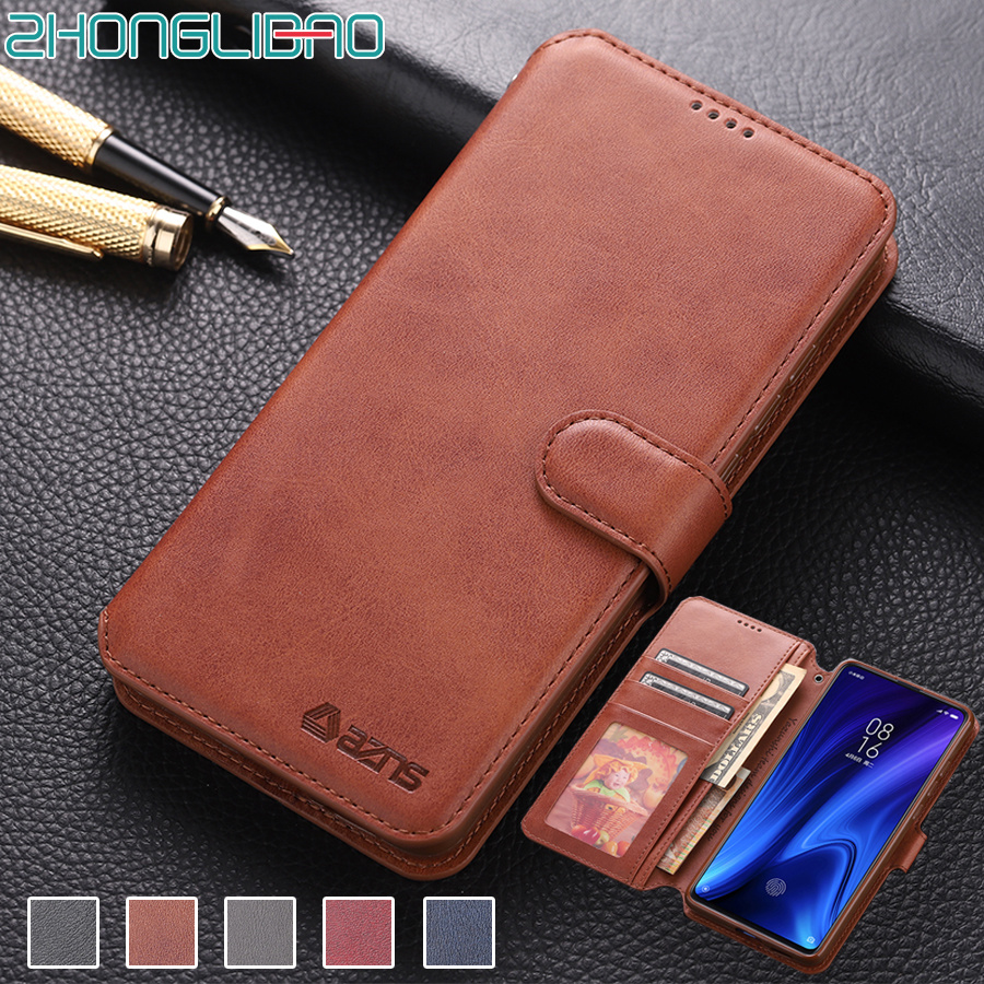 Leather Flip Case for Xiaomi Redmi K20 Pro Global Wallet Cover for Xiaomi Mi 9t Pro Card Holder K20Pro 360 8gb 128gb Capa Funda image