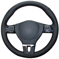Black  Artificial Leather Car Steering Wheel Cover for Volkswagen VW Gol Tiguan Passat B7 Passat CC Touran Jetta Mk6