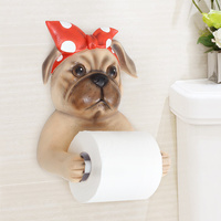 Creative toilet paper holder tissue box Cute animal toilet roll paper rack Wall mounted toilet paper roll toilet paper tray