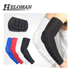 Breathable UV Protection Compression Running Cycling Arm Sleeve Sports Volleyball Basketball Arm warmers Golf Elbow Pads Cover(China)