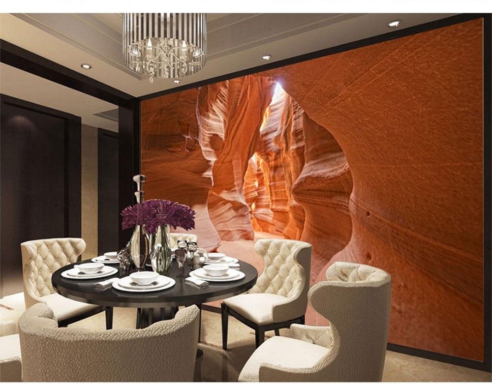 Custom 3d Mural KTV Restaurant Bar Lounge Sofa Living Room TV Background Wallpaper Natural Weathering Beauty