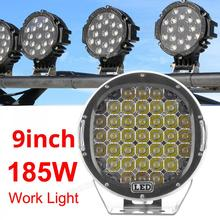 9 Inch 185W 6000K Work Driving Lights Spot / Flood light HID Vehicle for Offroad SUV ATV Truck Boat