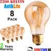 25/40/60/75 Watt 25W/40W/60W/75W Incandescent Equal 220-Volt 230 Volts AC E27 E26 A60 Standard Shape LED Filament Bulb 2/4/6/8/W