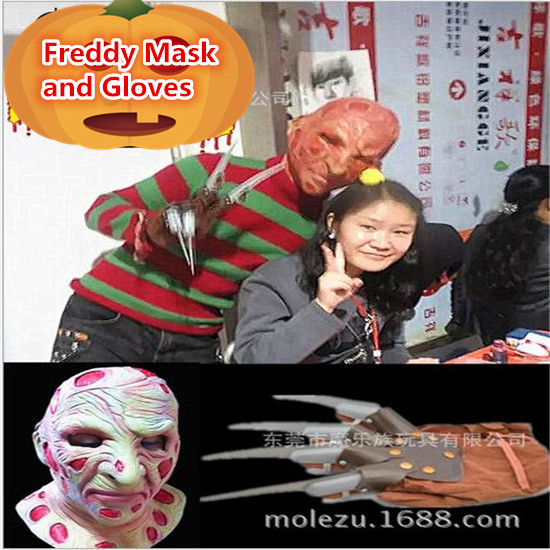 Hot film jason maske cosplay halloween maske jason freddy <font><b>hockey</b></font> festival party halloween maskerade maske und scary handschuh maske image