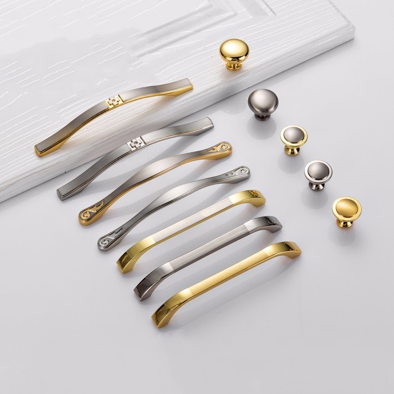 Modern Door Handles Kitchen Cabinet Knobs and Handles Silver Furniture Hardware Wardrobe Cupboard Handle Gold Drawer Pulls luxury gold czech crystal round cabinet door knobs and handles furnitures cupboard wardrobe drawer pull handle