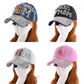 promotion women girl fashion basketball mom style luxury baseball cap fuchsia black denim jean cotton brand hip hop snapback hat
