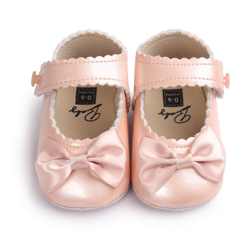 Spring Summer Baby Girl PU Leather First Walker Shoes Newborn Infants Crib Soft Shoes Sneakers 0-18M