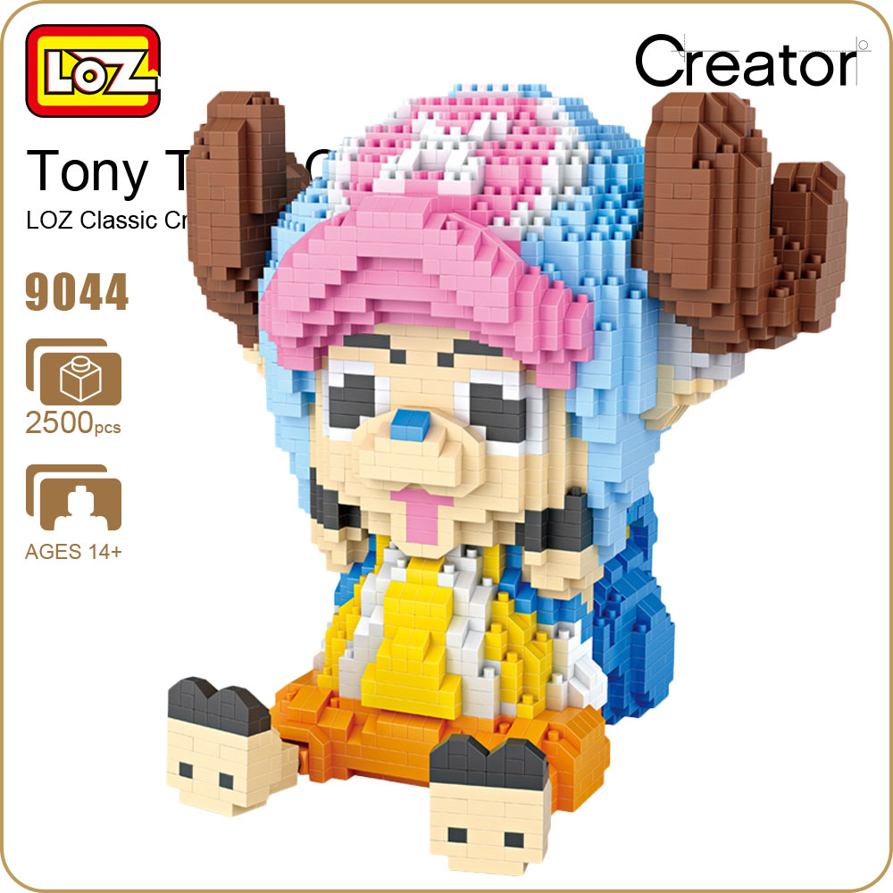 LOZ Diamond Blocks Tony Tony Chopper Figure Action Anime Assmbly Model Micro Block Toys For Children Gift Creator Bricks 9044  new gundam action figure model diamond building blocks loz 15cm 6 pcs set toys for children 9