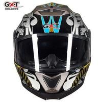 GXT Motorcycle Helmet Double Lens Moto Helmet Capacetes Helmet Full Cover Motorbike Helmetsf PC Visor ABS
