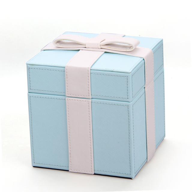 Us 9 99 High Quality Blue Box For Jewelry Ring Packaging Hard Cardboard Jewellery Box Portable Travel Jewellery Boxes Gift For Girl 233 In Jewelry
