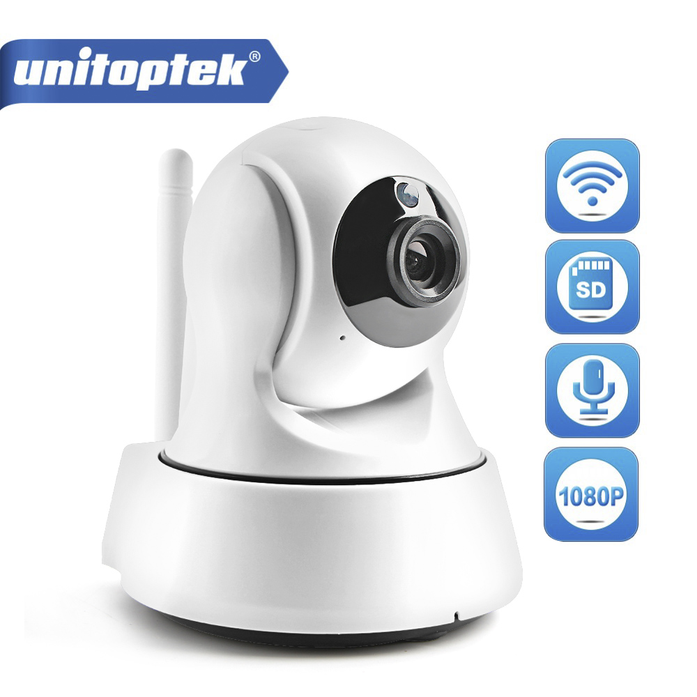 UNITOPTEK MINI Wireless WIFI IP Camera Wi-FI 1080P Night Vision HD 2MP Smart Camera Two Way Audio Home CCTV Surveillance Camera цена 2017
