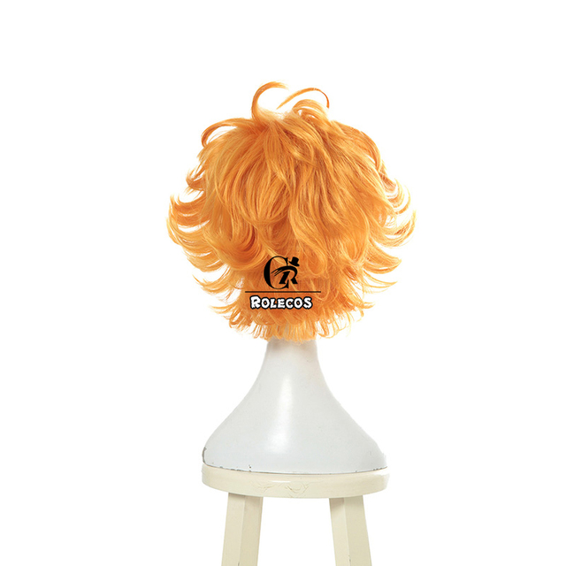 ROLECOS Anime The Promised Neverland Emma Cosplay Hair Yakusoku no Neverland Cosplay Headwear for Girl Women Synthetic Hair