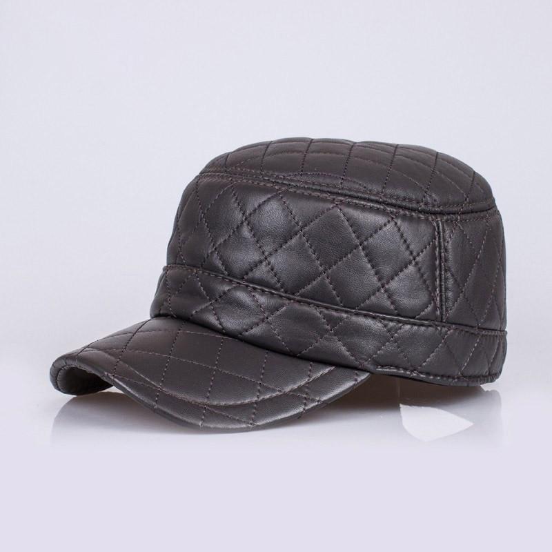HL067 cuero genuino gorra de béisbol sombrero de los hombres a estrenar  cuero real ajustable gorras sombreros con 3 colores 419fc050095