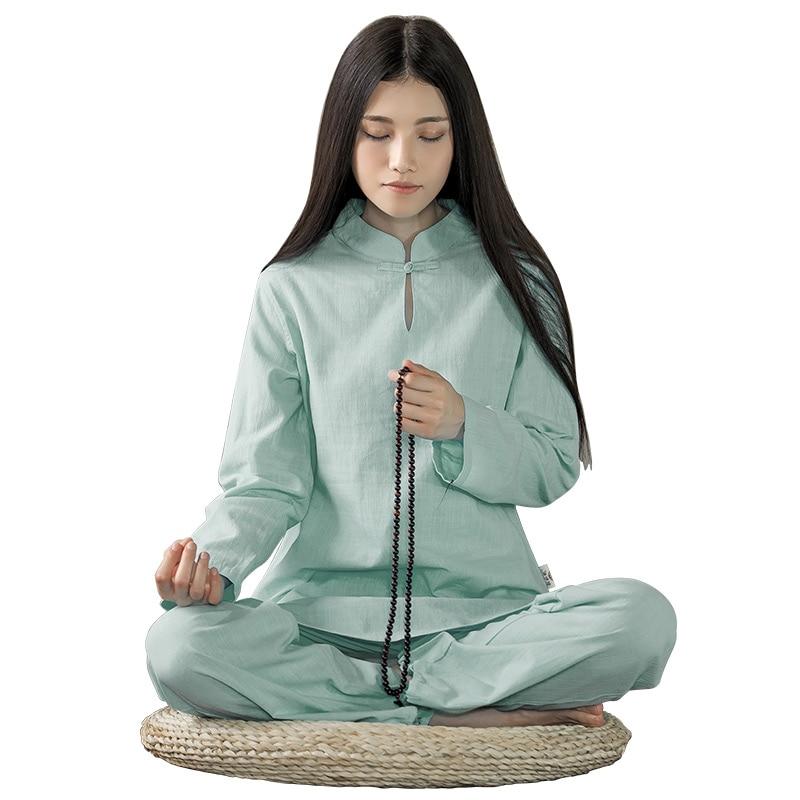 Volle heißeste frauen langärmelige baumwolle yoga sets dame - Sportbekleidung und Accessoires - Foto 2