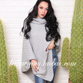 Free Shipping 2017 Spring Autumn New All Match Thick Line Turtlenneck Irregular Wrap Sweaters Khaki Gray Woem Long Sweater