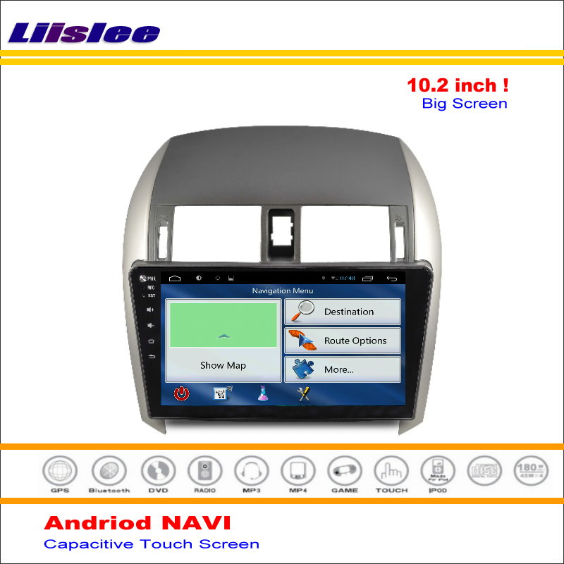 Discount Liisle Android GPS NAV NVAI Navigation System For Toyota Corolla 2007~2013 Radio Stereo Audio Video Multimedia ( No DVD Player 5