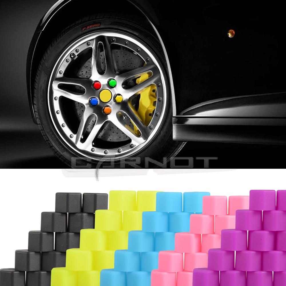 20pcs Car Styling Car Wheel Hub Screw Silicone Wheel Lugs