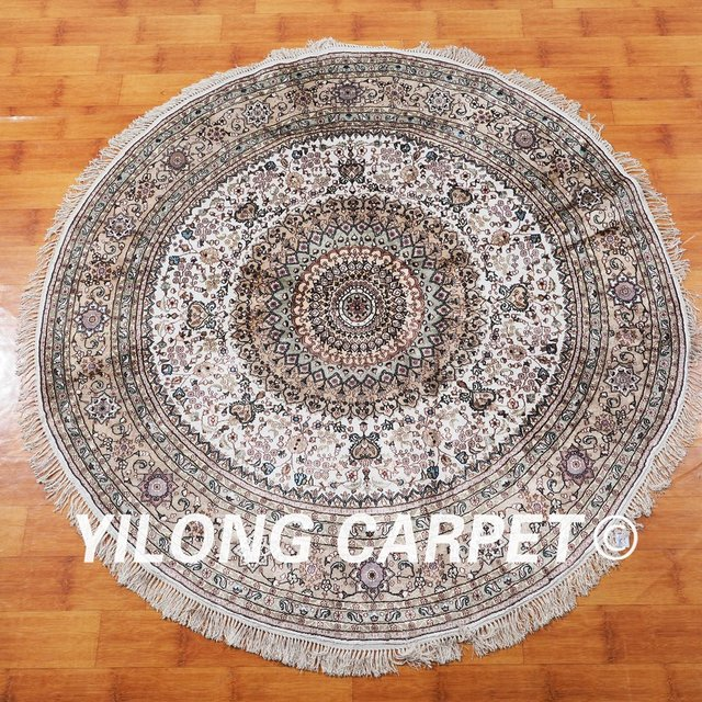 YILONG 6u0027x6u0027 Oriental Exquisite Persian Design Carpet Nice Handmade  Handknotted Round Persian Rugs