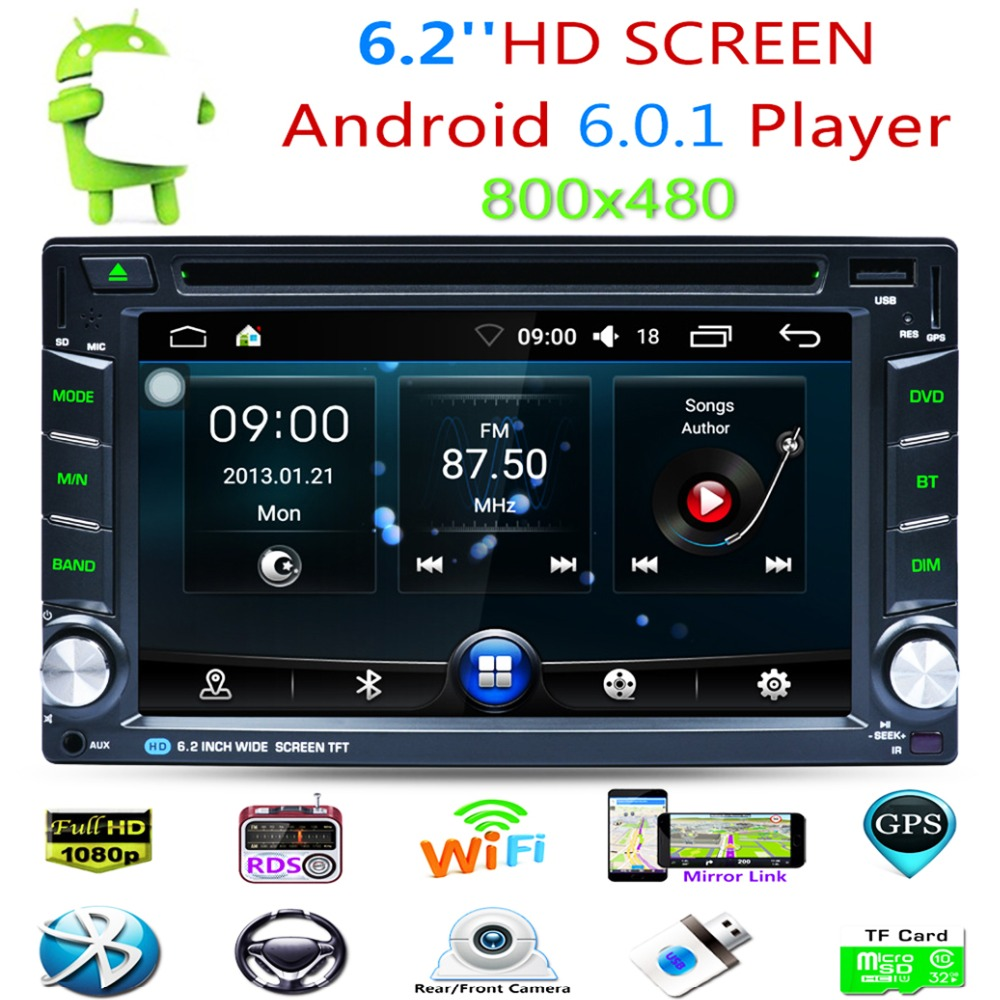 US $175 69 20% OFF|Hot Universal 6 2 Inch Touch Screen 2 Din Car Radio 2Din  Android Automotive DVD Built in Bluetooth FM Transmitter MP5 for Joying-in