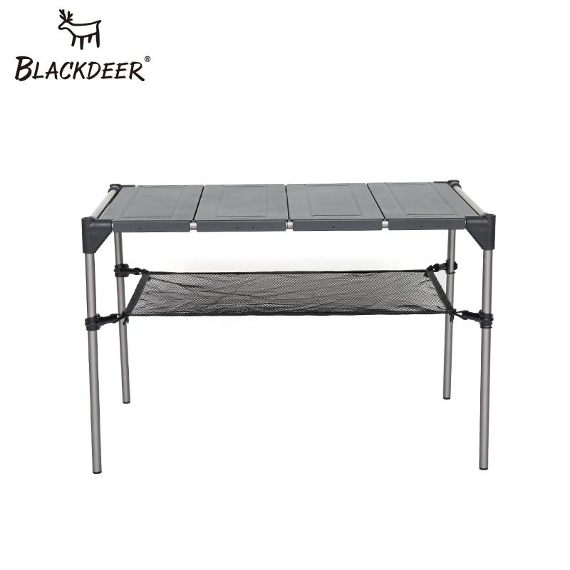 BLACKDEER Camping En Plein Air Bureau En Alliage D'aluminium Table Pliante Portable Pique-Nique De Pêche Bière de Table Léger Anti-Pluie Amovible