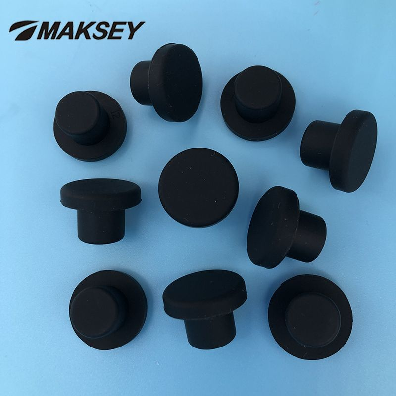 White Snap-on Hole Plug Silicone Rubber Blanking End Caps Seal Stopper 2.5~14mm