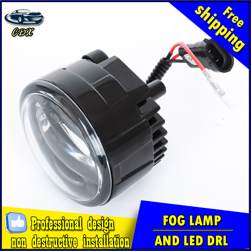 Car-styling LED fog light for Nissan Tiida GTS 2012,2015 LED Fog lamp lens and LED day time running ligh for car accessories