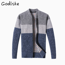 Foreign trade new autumn winter men's round neck cardigans and thickening sweaters/Men's fashion business casual sweater