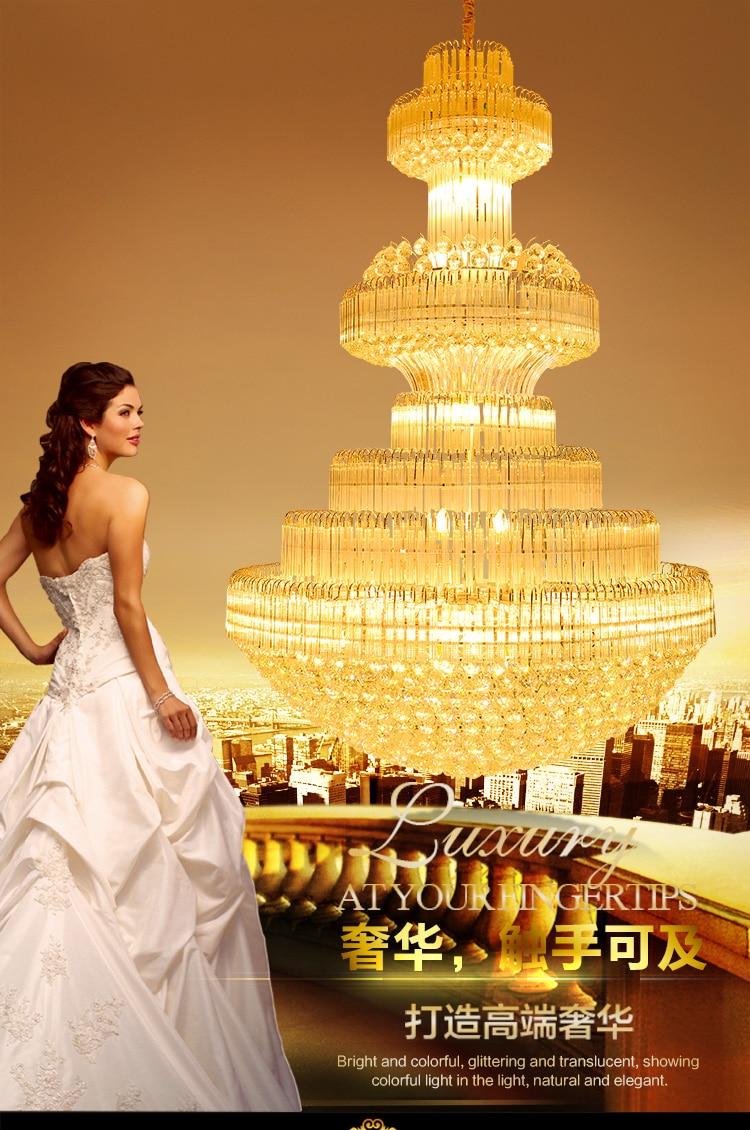 Gouden kristallen kroonluchter Moderne kroonluchters Verlichting - Binnenverlichting - Foto 5