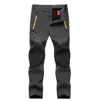 Oversized Men Winter Fleece Waterproof Outdoor Pants Soft shell Trousers Camp Fish Trekking Climb Hiking Sport