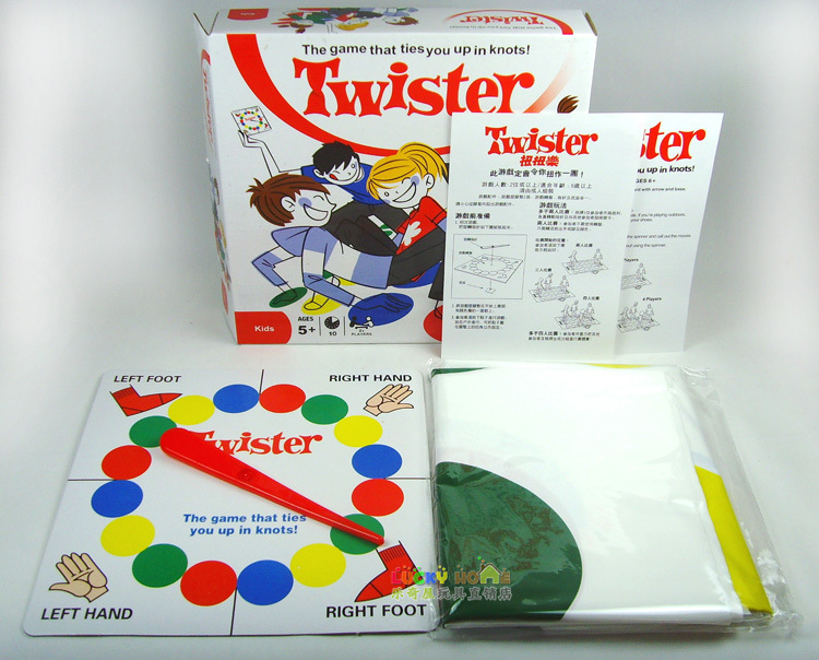 Classic toy board game Twister Game Ties You Up In Knots Board Games Family Children Friend Bady Balance Party Game with box ...