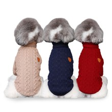 Pet Spring Autumn Knitted Coats Bottoming Shirt for Dogs Puppy Breathable High Collar Sweater Coat Z