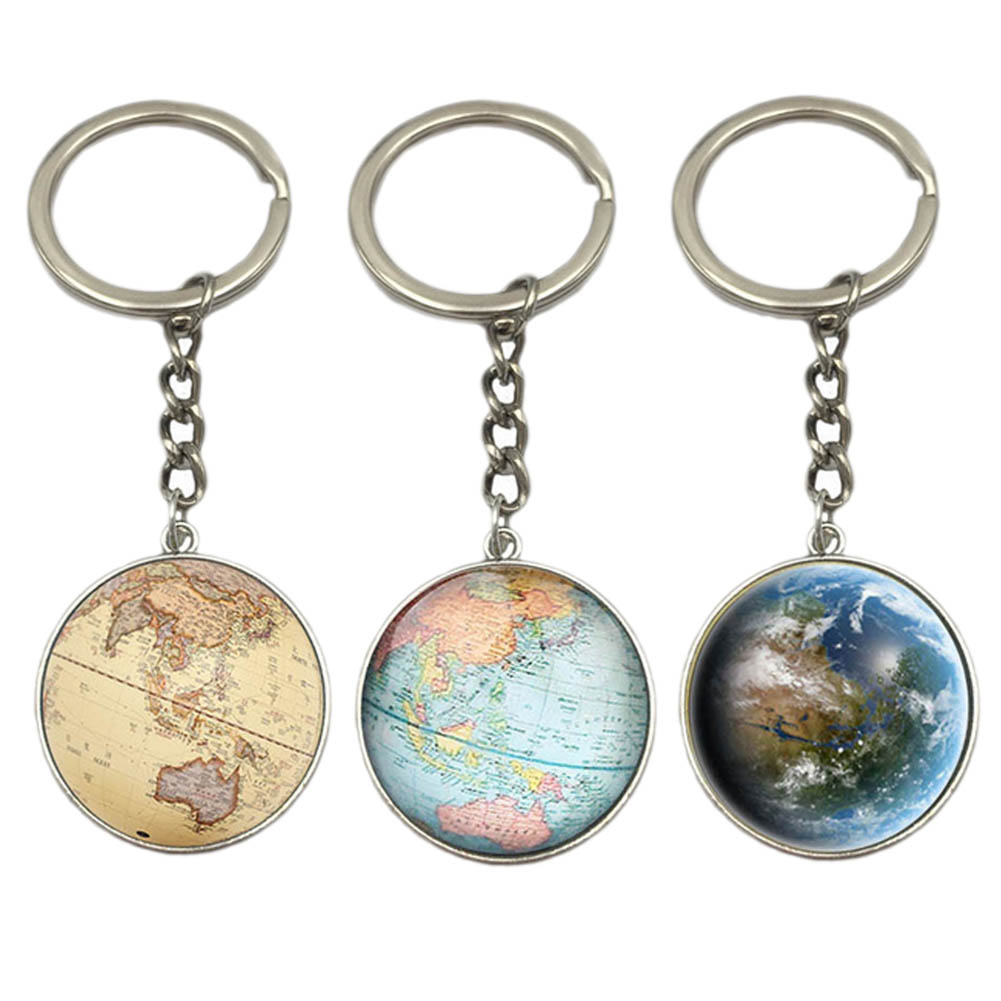 Earth globe art pendant keychains gift world travel adventurer key earth globe art pendant keychains gift world travel adventurer key ring world map globe keychain jewelry in key chains from jewelry accessories on gumiabroncs Image collections