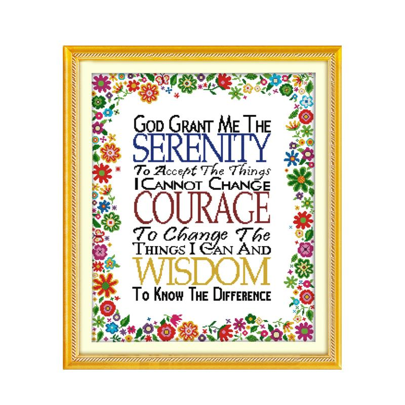 11CT 14CT Multi-Specification Cross Stitch Kit, Gods Gift English Word Hand Embroidery Crafts Decorative Sewing Embroidery