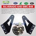 B48 un conjunto de acero negro 54 pulgadas curvada barra de luz LED soportes de montaje para Avalanche Silverado Suburban Tahoe Sierra Yukon