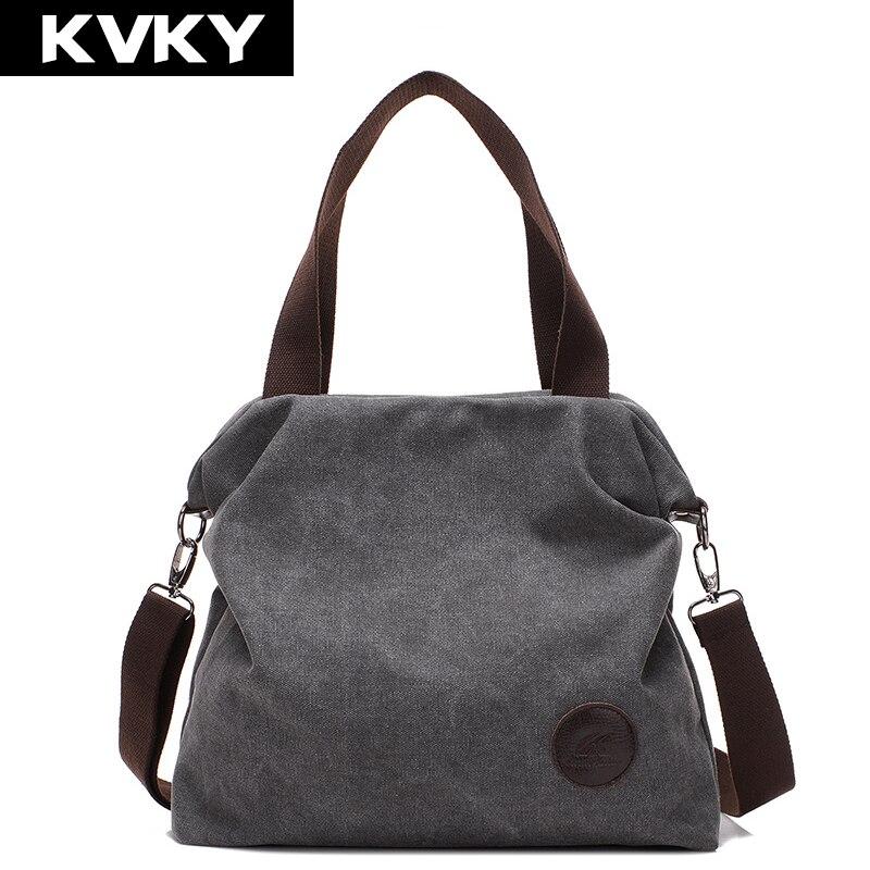 KVKY 2017 Women Bag Vintage Canvas Handbags Messenger bags for Women Handbag Shoulder Bags High Quality Casual bolsa feminina