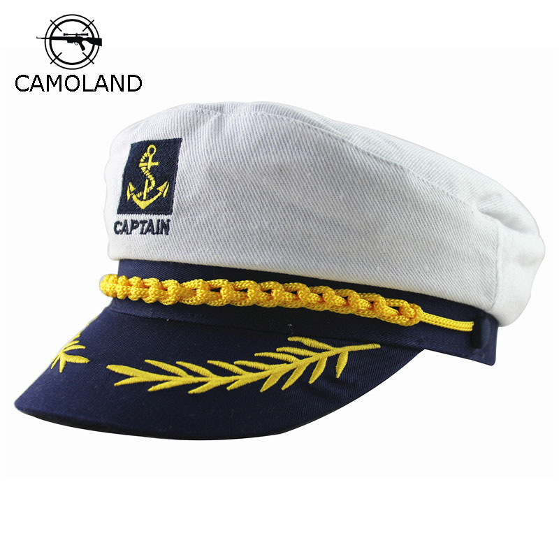 Adult Captain Costume Boat Yacht Ship Sailor Navy Captain Hat Party Cosplay Cap Sea Boating Nautical Fancy Dress Drop Shipping