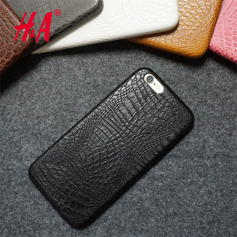 For iphone 6 6s Case Luxury Crocodile Snake Print Leather