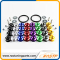 RASTP - Password JDM Quick Release Fasteners Ideal for Front Bumpers Rear Bumpers and Trunk / Hatch Lids LS-QRF001
