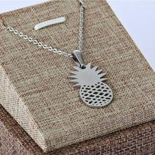 цена на pineapple sharp necklaces pendant stainless steel cool pendant necklaces Women Girls Statement Female Jewelry
