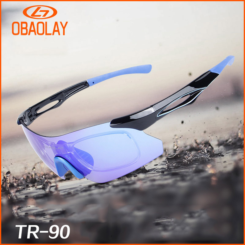 OBAOLAY Brand TR90 Polarized Sports Men Sunglasses Road Cycling Glasses Mountain Bike Bicycle Riding Protection Goggles Eyewear|Cycling Eyewear| |  - title=